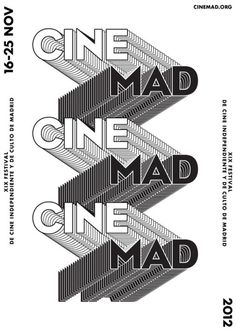 designeverywhere: CINEMAD #print