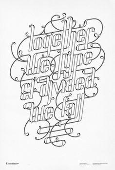 POSTERS III on the Behance Network #typography