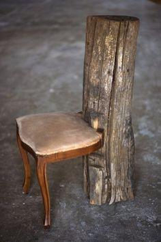 VIA - The Black Workshop #wood #chair