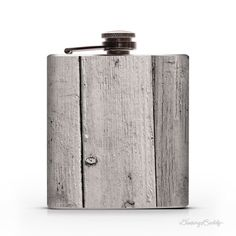 Vintage Painted Wood 6oz Whiskey Hip Flask #flask #rustic #wood #vintage #repurpose