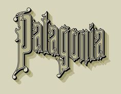 Patagonia Allan Peters #print #detail #typography