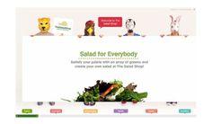 The Salad Shop website Asylum