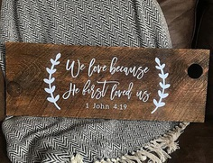wedding bible verses wood design style