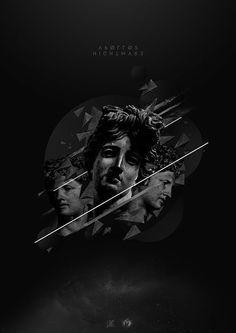Apollos Nightmare #abstract #lines #fox #davis #design #graphic #glory #black #space #night #apollo #lyndel #and #statues #ling #dark #grey