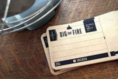 Kelli Anderson: Dig for Fire #logo #digforfire #identity #stationary
