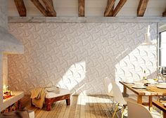 Organic Geometric Concrete Tile by KAZA Concrete concrete tile collection dining room