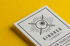 Letterpress Kindred Cards #print #business card #letterpress #yellow #card