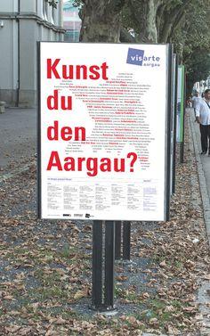 phosphat visarte aargau plakatkampagne