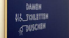 Gourdin & Müller - Sporthalle Industrieschule, Chemnitz #wayfinding #signage #typography