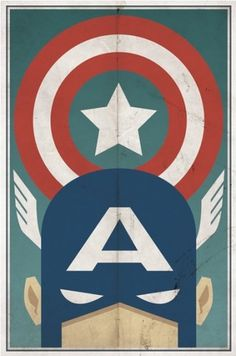 Vintage Style Comic Character Posters | Paper Crave #american #captain #vintage #poster