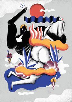 KarolBanach-dinujo-oldskull-04 #illustration