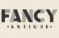Fancy Antique Display - Infamous Foundry #fancy #typeface #antique