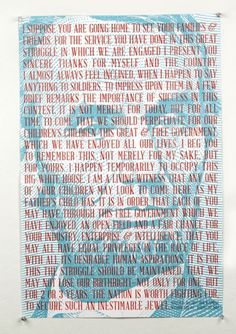 Font Design: Abraham Lincoln | Frances MacLeod #lincoln #serif #poster #typography