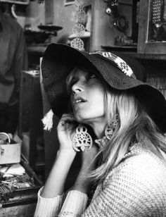 the impossible cool. #earrings #hat #bardot