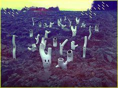 Diploo Studio - Woods (ceramic hand made sculptures) #diploo #sculpture #white #woods #ghosts #art #made #ceramic #hand