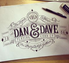 Dan and Dave logo crest #typography #logo design