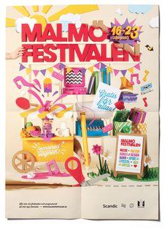 Malmö Festival 2013 on Behance #snask #handmade #paper