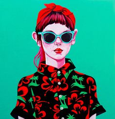 Jaya Nicely: Photo #painting #illustration #portrait #girl