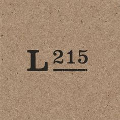 Local 215 by R&Co. Design #typography #type #logo #minimal #mark #symbol #logo mark #logo type