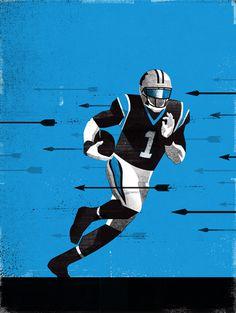 CAM2 #Illustration by Matt Stevens #Sports #NFL #Carolina #Panthers #American #Football