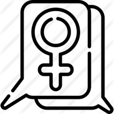 See more icon inspiration related to shapes and symbols, feminism, femenine, gender, female, communications, chat and speech bubble on Flaticon.