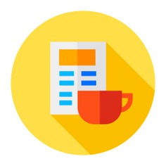 See more icon inspiration related to time, food and restaurant, files and folders, tea cup, coffee break, coffee mug, coffee cup, break, hot drink, newspaper, chocolate, mug, tea, coffee and food on Flaticon.