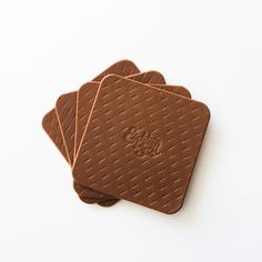 Hand-stamped leather coasters by Eighteen32. #coasters #leather #handmade #handcrafted