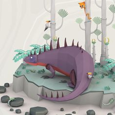 Bridges and Stitches #illustration #low #poly