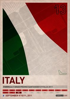 Store | PJTierney.net — 2011 Formula 1 Italian Grand Prix Poster #racing #italy #car #poster