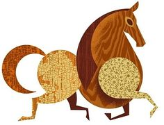 FFFFOUND! | Brian Miller #horse #round #texture #wood #grain #circular #animal