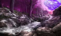 Fantasy Forest Tree Sky Wall Hd Background – WallpapersBae