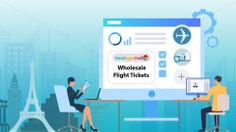 How do wholesale flight tickets get processed?