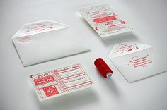 #Wedding #invitation suite designed by Katie Fechtmann and printed by Elegante Press