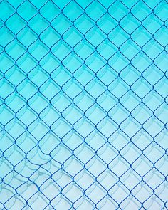 danieleverett: Detail from Untitled, 2012 #fence #blue #chainlink #gradient