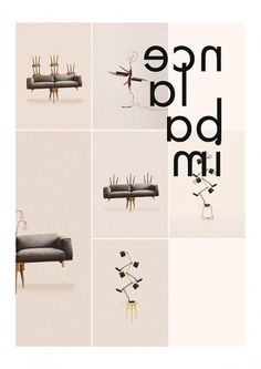 Editorial - La Nouvelle #interior #lamp #sofa #imbalance #design #stool #wood #furniture #typography