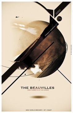 The Beauvilles | Flickr - Photo Sharing! #graphic design #poster #music #space #planet