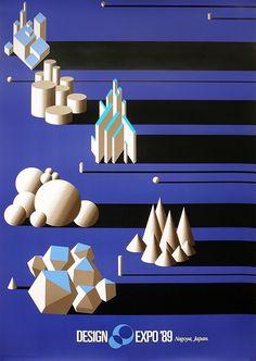 Japanese Poster -- World Design Expo -- Yusaku Kamekura - 1989