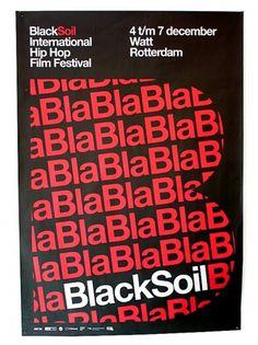 almost Modern : Black Soil #modern #helvetica #poster #typography