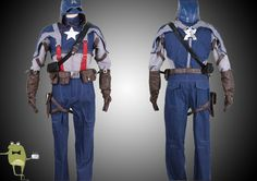 Steven Rogers Captain America Movie Cosplay Costume Sale