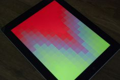 Prototyping iPad on the Behance Network #block #gradient