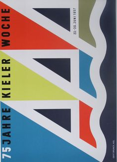 Kieler Woche poster produced for the Kiel Festival 1957 #poster