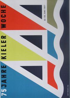 Kieler Woche poster produced for the Kiel Festival 1957