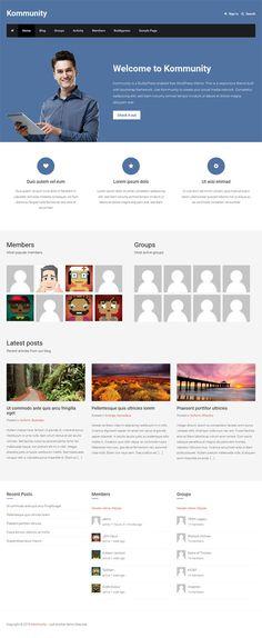Kommunity : Free Responsive Buddypress Theme