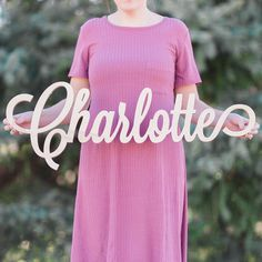 CHARLOTTE Font Letters