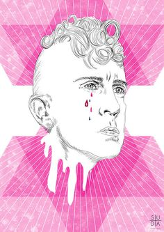 Jeremy Scott #suda #adidas #pink #cry #homo #illustration #hot #gay #scott #jeremy #kinky #mateuszsuda
