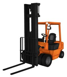 Heavy Machinery on the Behance Network #orange #material #handling #machinery #illustration #forklift
