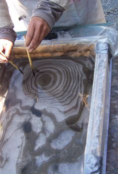 2 Concentric float sumigachi! #marbling #crafting #sumigachi