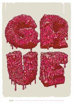 GO FONT URSELF* 3 Exhibition: Sydney, Australia on the Behance Network #milwaukee #brett #illustration #stenson #typography