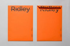 thisislosko: RE: — Ridley #typrography #design #envelope #stationary