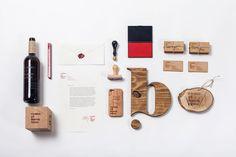 """Como el buen vino"" brand #wood #brand #design #studio"